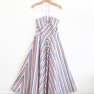 NWT RALPH LAUREN Halter Dress Multi Striped SZ 6